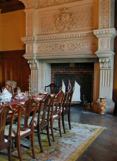 Dining-Room-Chateau-Sommesnil-Normandie-Grand-Chateau-France-Available-bookings-holidays-weddings